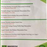 BUletin Sosiologi Unas ini merupakan hasil dari kegiatan pelatihan metodologi dan penelitian mahasiswa Sosiologi dan HIMASOS UNAS beserta dosen Sosiologi Unas dengan fokus kajian yang telah ditetapkan oleh Program Studi Sosiologi Universitas NAsional